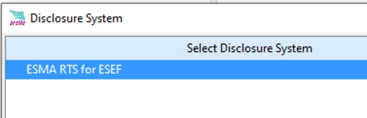 select disclosure system